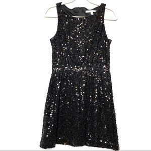 Lauren Conrad black sequin party dress sz 8